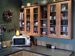 ikea small kitchen ideas with modern microwave and wooden cabinet