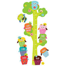 apple and pear removable fabric wall stickers owls height chart fabric wall stickers owls