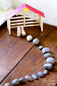 diy craft stick nativity stable tutorial rhythms of play