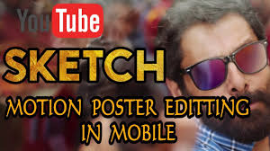 vikram sketch motion poster editing edit your name in motion