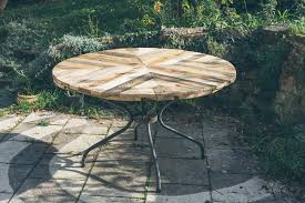 Handmade Wooden Outdoor Furniture by Round Top Table Made Of Pallets Diy
