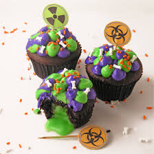 toxic slime filled cupcakes easybaked