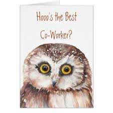 funny co worker greeting cards zazzle