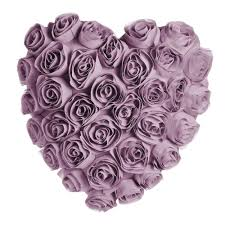 wilko heart shaped rose cushion lilac at wilko com