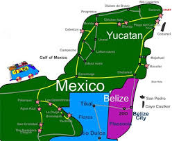 map of mexico yucatan region map of mexico yucatan region major tourist attractions maps