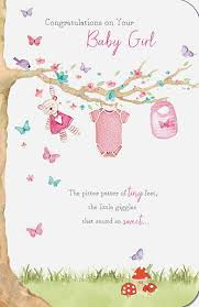 baby girl cards congratulations on your baby girl card