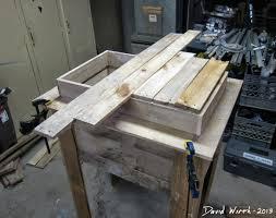 rustic outdoor cooler stand wood pallet