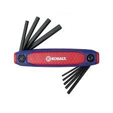 shop kobalt 9 piece folding flat end hex key set at lowes com