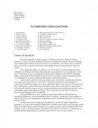 cover letter grants