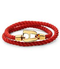 red rope bracelet images Red rope polished gold hardware nimany studio jpg