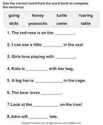 simple sentence worksheet1 esl efl worksheets grade 1