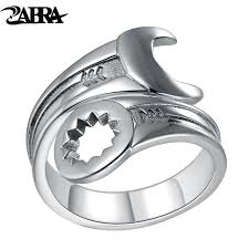 vintage love rings images Zabra genuine pure 925 sterling silver cool wrench ring men jpg