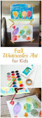 craftaholics anonymous fall watercolor art for kids makeamazing