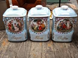 canisters flour sugar coffee containers victoria china