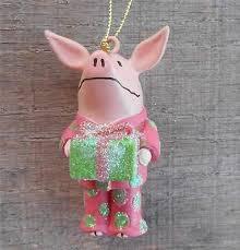 pink pig ornaments rainforest islands ferry