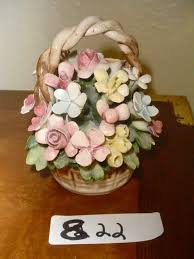 capodimonte basket of roses capodimonte 12 flower basket centerpiece made in italy w