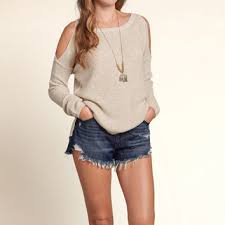 open shoulder sweater open shoulder sweater from hollister co