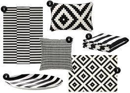 Black Striped Rug Cup Half Full Black And White