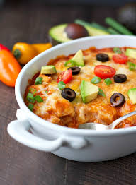 Cooking Light Enchilada Casserole 4 Ingredient Healthy Chicken Enchilada Casserole The Seasoned Mom