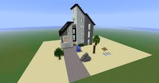 Modern House Blueprints by Large Minecraft Beach House Blueprints All About House Design