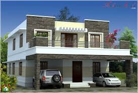 simple contemporary style kerala house elevation beautiful homes