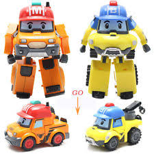 robocar poli mark bucky car transformer robot figure kid christmas