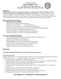 Service Technician Resume Sample Bunch Ideas Of Audio Visual Technician Resume Sample With