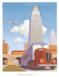 rush hour by robert laduke vintage art deco posters art and