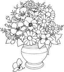 simple flower coloring pages free cute printable coloring pages
