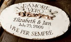 wedding plaques personalized italian wedding anniversary personalized wall plaque