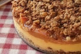 peach cobbler cheesecake i heart recipes