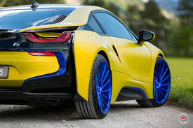 Bmw I8 Yellow - bmw i8 on vossen forged precision series vps 305t wheels