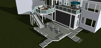 two story deck design ideas by archadeck st louis decks