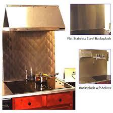 Kitchen Backsplash Vent Hood Wall Backsplash With Universal Cook - Stainless steel cooktop backsplash