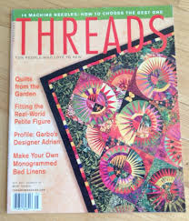 threads magazine may 2001 no 94 quilts monogrammed bed linens