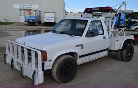 Dodge Dakota Truck Camper - 1990 dodge dakota wrecker pickup truck item k6652 sold