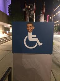Drake Degrassi Meme - drake face on handicap wheelchair signs in toronto for degrassi
