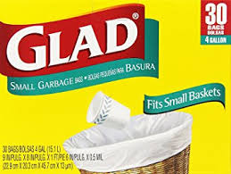 Amazoncom Glad  Gal Small Garbage Bags  Ct Home  Kitchen - Bathroom trash bags