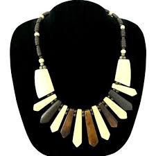 wood beads necklace designs images Necklaces international fashion vogue jpg