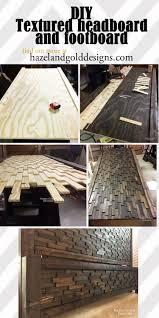 Wood Head And Footboards Diy Textured Headboard Footboard Wood Headboard Wood Beds And