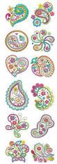 crazy for paisley machine embroidery design set paisley crazy for paisley machine embroidery design set