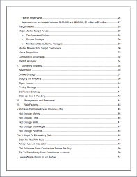 real estate house flipping business plan sample pages black box