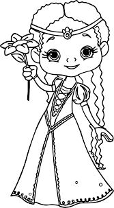 flower princess coloring page wecoloringpage