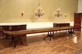 extra large 16 foot triple pedestal mahogany dining table an extra extension and third pedestal can be added to make this a 20 foot table
