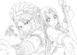 anime fairy coloring pages fairy tail manga coloring pages free