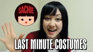 easy last minute halloween costume ideas sachie youtube