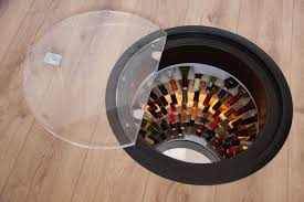 wine cellar under floor trapdoor in the kitchen floor spiral wine