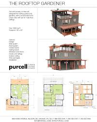 purcell timber frames the roof top gardener full home design
