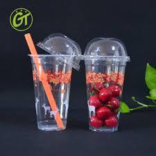 costo bicchieri di plastica frullato richiudibile di plastica tazze con cannucce bicchieri di