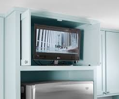 tv in kitchen ideas don t let your tv ruin your kitchen my ideal home